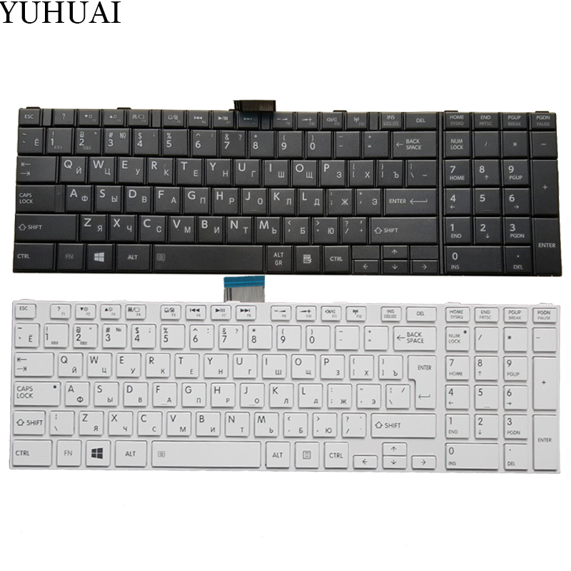 NEW Russian Keyboard for <font><b>Toshiba</b></font> <font><b>Satellite</b></font> C50-<font><b>A</b></font> C50-A506 C50D-<font><b>A</b></font> C55T-<font><b>A</b></font> <font><b>C55</b></font>-<font><b>A</b></font> C55D-<font><b>A</b></font> RU Keyboard image
