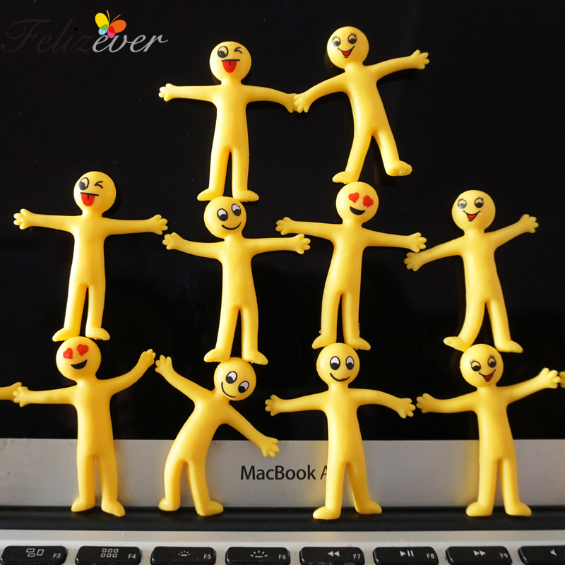 24 PCS Creative Soft Rubber Yellow Smile Expression Vent Toys Party Favors Baby Shower Kids Birthday Goodie Bag Pinata Fillers