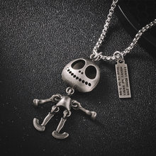 Vintage Alien Pendant Necklace Joint Movable 316 Stainless Steel Unisex Chain Hip Hop Jewelry Cool Mujer Colar Birthday Gift(China)