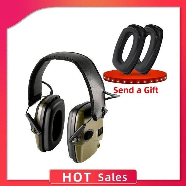 電子撮影イヤーマフ戦術的なアウトドアスポーツアンチノイズサウンド増幅聴覚保護ヘッドフォン戦術ヘッド