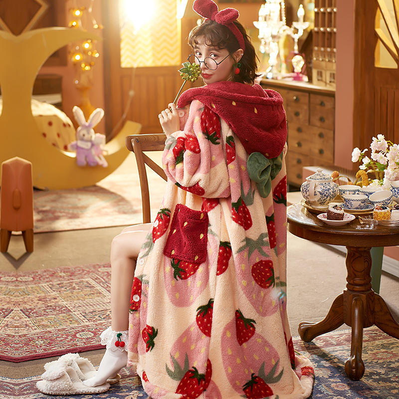 Kawaii Cozy Winter Nightgown 3