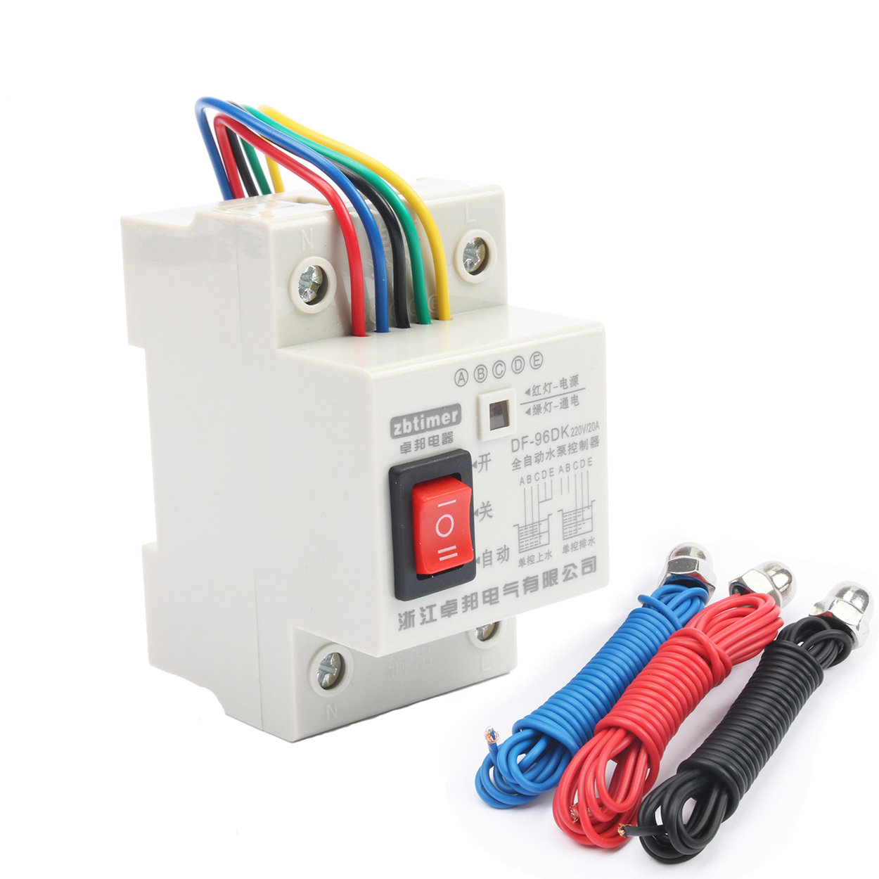 10A 220V Water Pump Controller DF-96DK , Automatic Water Level Controller Switch , Water Tank Liquid Level Detection Sensor