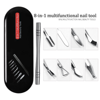 Manicure Set Portable Professional Grooming Kit Stainless Steel Nail Cleaner Tools for Fingernail TY