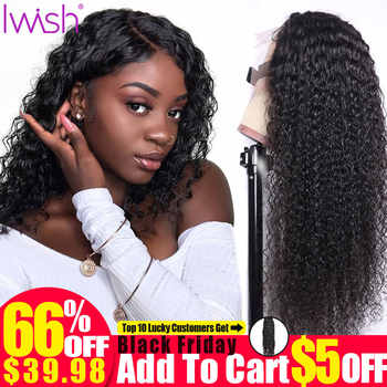 Iwish Lace Front Human Hair Wigs For Black Women Remy 13x4'' 150% Front Brazilian Wig Pre Plucked With Baby Hair Deep Wave Wig - DISCOUNT ITEM  52% OFF All Category