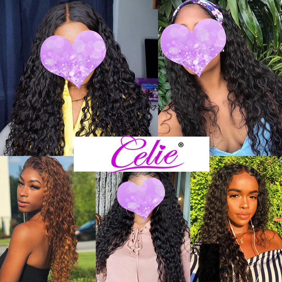 Celie Hair 6X6 Lace Closure Wig Brazilian Water Wave Lace Wig Human Hair Wigs Pre Plucked Celie Hair 6X6 Lace Closure Wig Brazilian Water Wave Lace Wig Human Hair Wigs Pre Plucked Glueless Lace Wig Curly Human Hair Wig
