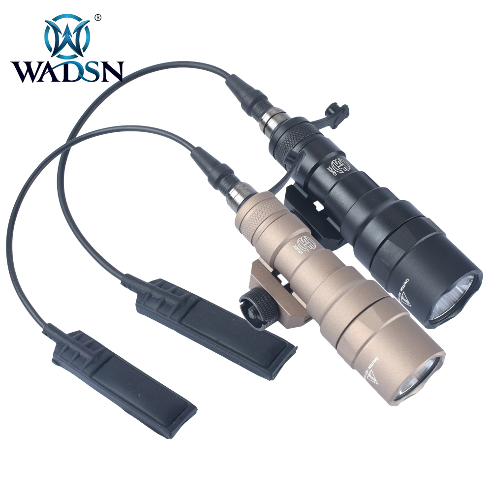 Airsoft Headset Tactical Military Flashlight Scout Light Torch Lamp 20mm Rail