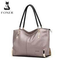 FOXER Marque, sacs fourre-tout de luxe, sac fourre-tout pour femme vintage, sacs à bandoulière femme, sacs à main, sacs fourre-tout en cuir de vache pour femme, sacs de marque de mode, sac à main à fermeture éclair