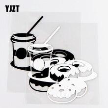 YJZT 12×13.3CM Exquisite Vinyl Decal Fast Food Soda Hamburger Beverage Car Stickers Black / Silver 10A 0745