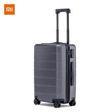 Xiaomi bagagem clássico mi mala de viagem 20/24 polegadas carry-on roda universal tsa bloqueio senha viagem de negócios para homens mulheres rússia