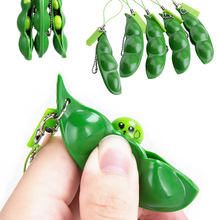 Adult Toy Fidget-Toys Peas-Beans Rubber Gift Stress Keychain Cute Decompression Pop-It