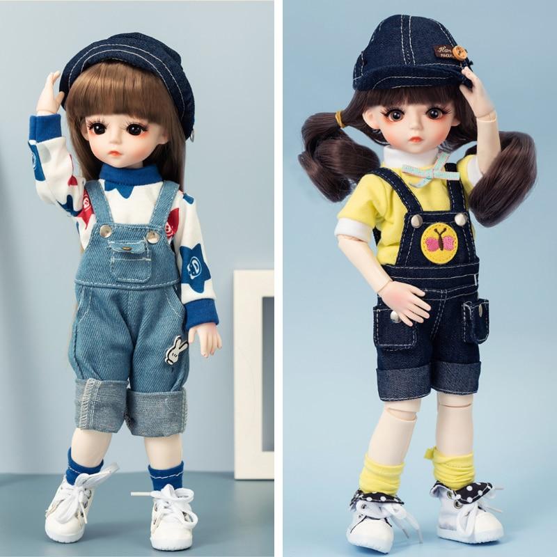 30CM BJD Puppe Machen Up Schönheit Mädchen Spielzeug 18 Gelenke Beweglichen DIY Puppen Mit Kleidung 1/6 BJD Handgemachte Schönheit spielzeug Geschenke Für Mädchen Beste