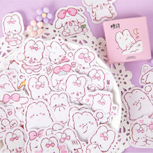 45 pièces/boîte mignon lapin quotidien Kawaii décoration autocollants planificateur Scrapbooking papeterie coréen journal autocollants