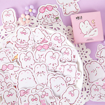 45 шт./кор. в виде милого кролика на каждый день, маленькие милые украшения наклейки планировщик для скрапбукинга канцелярские товары в Корейском стиле наклейки для дневника