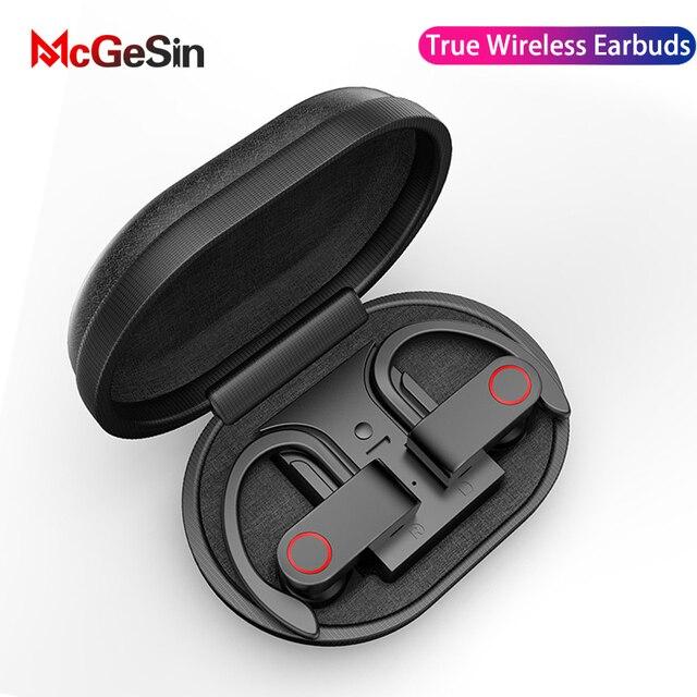 McGeSin Wireless Headphone Bluetooth V5.0 TWS Earphone Wireless Bluetooth Sport Headset Noise Cancelling Stereo Earbuds With MIC 1