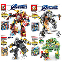 Marvel Avengers Ironman Hulkbuster Blocks Compatible With  Iron Man Superhero Infinite War Toys For Children