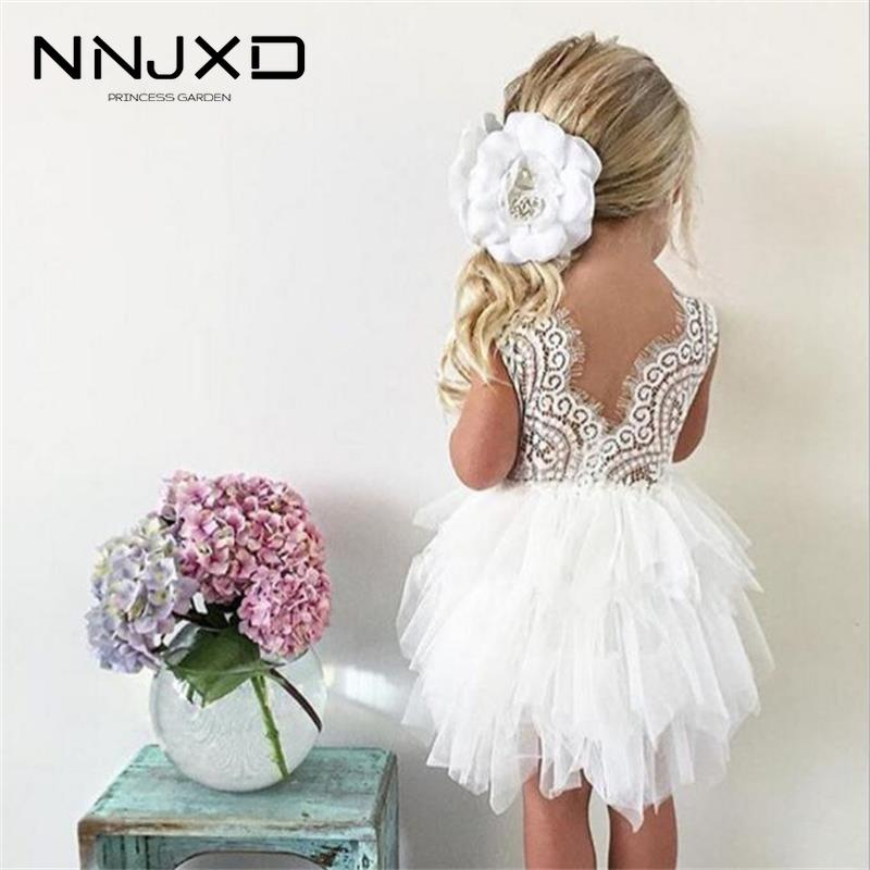 Summer Dresses For Girl 2020 Girls Clothing White Beading Princess Party Dress Elegant Ceremony 4 5 6 Years Teenage Girl Costume 1
