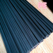 black wide 5mm thick 2.5mm PE plastic welding rod for truck car oil tank shell water pipe Chemical barrels Natural gas