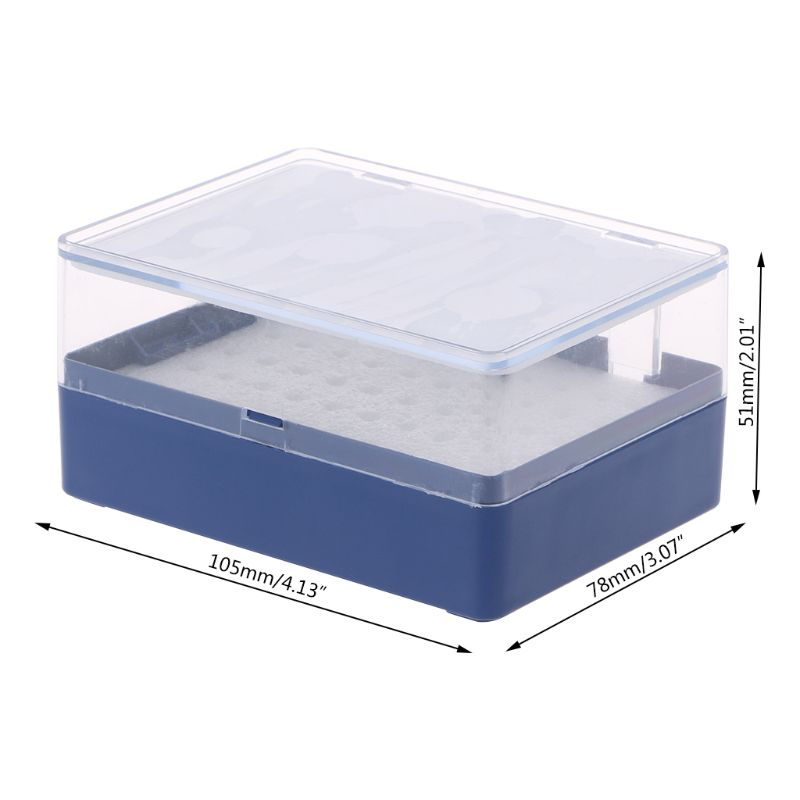 High Quality Plastic Storage Box With Foam Milling Cutter Organizer For 50 PCB Drill Bits