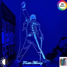 3d светодиодный Ночной светильник лампа Британский певец Меркьюри