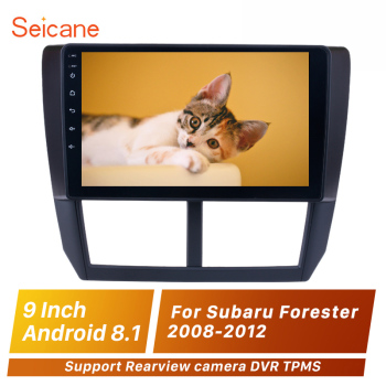 Seicane 2din Android 9.1 Car Multimedia Player 9'' For Subaru Forester 2008 2009 2010 2011 2012 Support Rearview camera DVR TPMS image