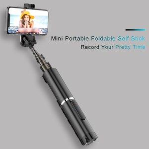 Image 5 - Mini Artifact extensible sans fil Selfie bâton Autodyne pour iPhone 11 Huawei 5G Samsung sans fil Bluetooth trépied Selfie bâton
