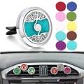 Автомобильный парфюмерный диффузор клип 316L нержавеющая сталь 30 мм медальон-подвеска, для ароматерапии парфюм эфирное масло диффузор медальон ожерелье - фото