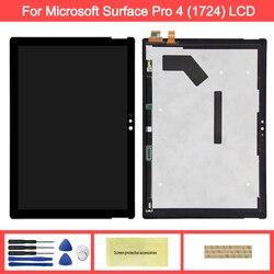 Display Für MicroSoft Oberfläche Pro 4 1724 LCD Display Touchscreen Digitizer Montage Ersatz Für Microsoft Pro 4 lcd bildschirm