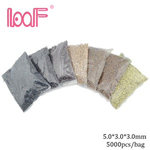 Image 1 - LOOF 5000pcs/color 5mm silicone hair microring links beads for Hair Extensions tools 8 Colors available