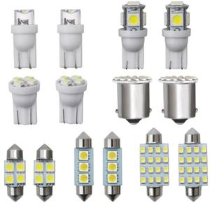 14pcs Car LED Interior Light Package Accessories For 1157 T10 31 36mm Map Dome License Plate Replacement Light Kit White Lamp