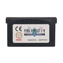 עבור Nintendo GBA וידאו משחק מחסנית קונסולת כרטיס Final Fantasy I & II שחר של נשמות הנדסה/פרה/DEU/ESP/ITA שפה גרסה