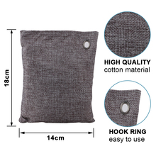 200g For Clothes Absorb Moisture Remove  15*19cm Purifying Bamboo Charcoal Bags