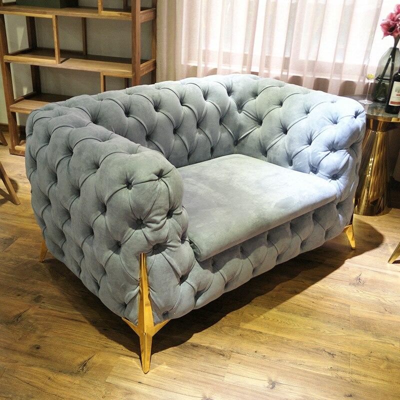 2020 luksusowy design popularny dom miłość sofa z nogami ze stali nierdzewnej # CE-8898