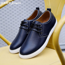 Trend Leather Men Casual Shoes Brand Fashion Sneakers Footwear Black Zapatos Outdoor Male Walking Shoes Men Flats Shoe Man White цены онлайн