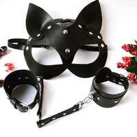Frauen Sexy Maske Halb Augen Cosplay Gesicht Katze Leder Maske Halloween Party Cosplay Maske Maskerade Ball Phantasie Masken Dropship