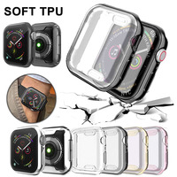 Watch Cover Case For Apple Watch Series 5 4 3 2 1 Band Case 42mm 38m 40mm 44mm Slim TPU Case Protector for IWatch 4 44mm|워치 케이스|   -
