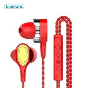 4-Core Dual подвижная катушка в ухо стерео бас наушники для прослушивания музыки спортивные наушники с микрофоном для iPhone Samsung Xiaomi fone de ouvido auriculares