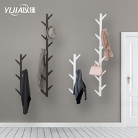 Three colors Creative coat rack wall bamboo wall hanging living room bedroom decoration hanger