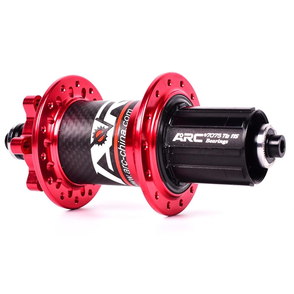 Image 4 - ARC Carbon Fiber MTB hub Mountain bike hubs 4 bearing 6 Pawls 114 Click 8 9 10 11 speed bicycle hub 135*10MM 142*12MM 32 Holes-in Bicycle Hubs from Sports & Entertainment