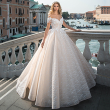 Elegant Princess Wedding Dress 2021 For Bride Sweetheart Off Shoulder Bridal Gowns With Exquisite Lace Applique Ball Gown