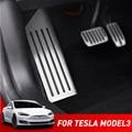 Für Tesla Modell 3 Model3 Zubehör Aluminium legierung Fuß Pedal Accelerator Gas Kraftstoff Bremspedal Rest Pedal Abdeckung Auto Styling