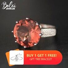 Bolai, большое круглое кольцо, 15 мм, сультанит, 925 пробы, серебро, изменение цвета, нано диаспора, драгоценный камень, ювелирное изделие, смелое кольцо для женщин 11,11