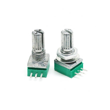 5pcs Three pin rk097n single potentiometer B 5K / 10K / 20K / 50K / 100k audio / power amplifier potentiometer 09 associated with the midpoint of the vertical single potentiometer 50k rc503w