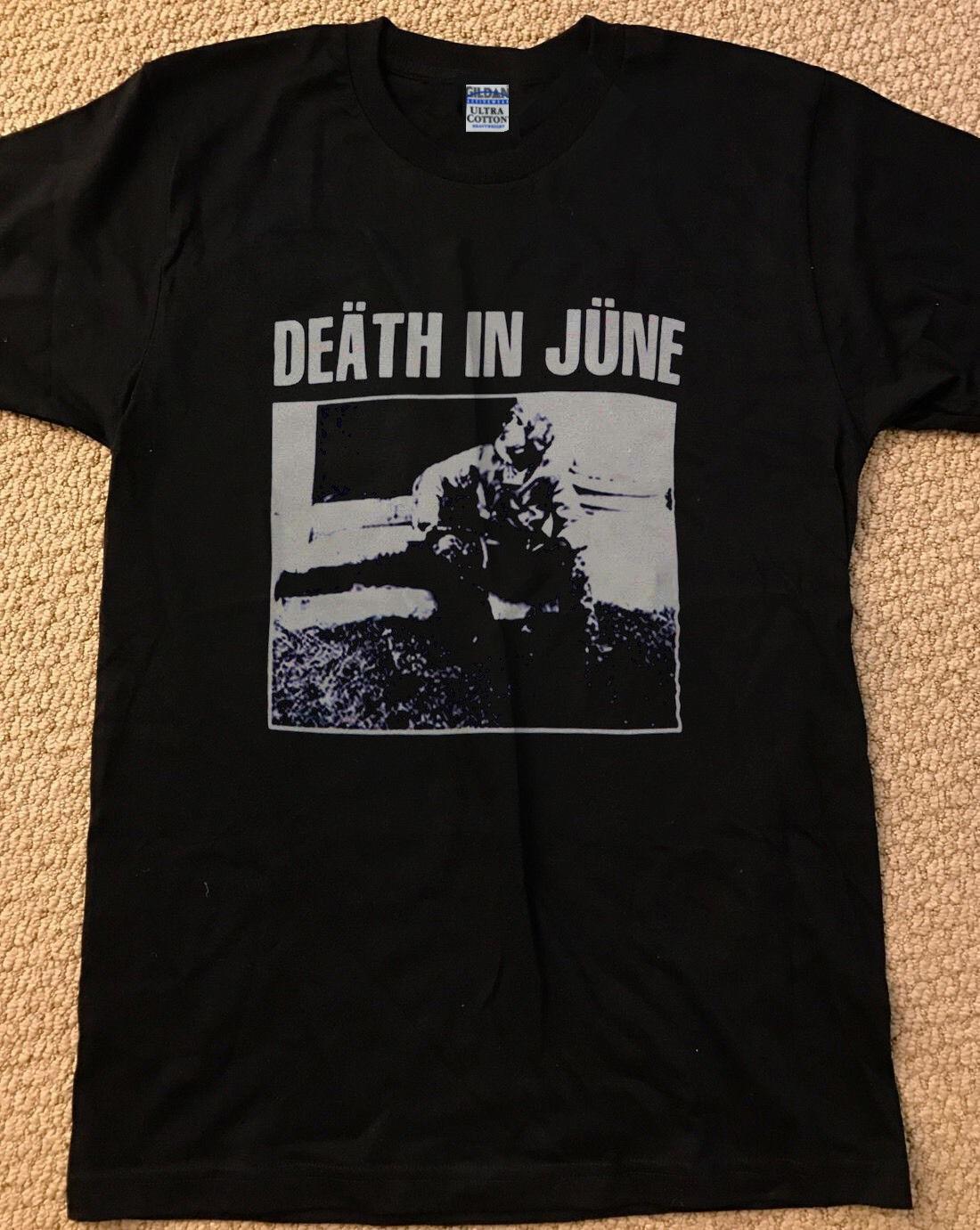 Death In June Shirt Vintage T Shirt Black Tee Shirt Neofolk Reprint Size S Xxl Mens T Shirt 011730