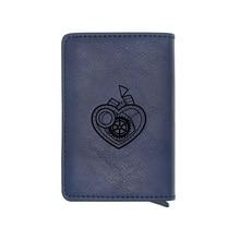 Steampunk Heart Gear Credit Card Holder Wallet Classic Pu Leather  Men Women Slim Small Credit Card Short Purse