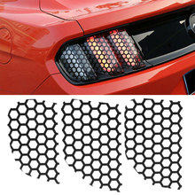6pcs Auto Decoration Rear Tail Light Stickers Waterproof 18x11.6cm Car Honeycomb Decal PVC Rear Tail Light Stickers(China)