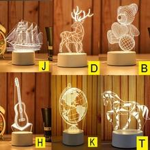 Мультфильм ночник 3D светодиодный USB мечта мягкий свет настольный ночник 2019ing