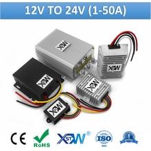 Xwst 12 v a 24 v 1a 3a 5a 10a 12a 15a 20a 30a 40a 50a intensifique o conversor 12 volts da c.c. do impulso à fonte de alimentação do carro de 24 volts