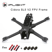 IFlight Cidora SL5 V2 223mm 5inch FPV Freestyle Frame w/5mm arm compatible XING X2207 motor/5inch propeller for FPV Racing Drone