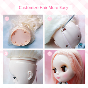 Image 4 - Neo Blyth Doll Customized NBL Shiny Face,1/6 OB24 BJD Ball Jointed Doll Custom Blyth Dolls for Girl, Gift for Collection FHYM