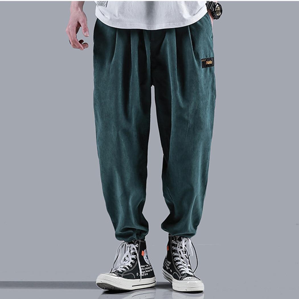 Streetwear Trousers Harem-Pants Loose Joggers Elastic Men Fashion Casual Hip-Hop Male